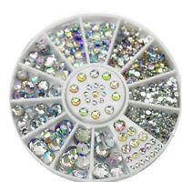 2017 Hot Mixed DIY Size Glitter Rhinestones Charm 3D Nail Art Decor Accessories