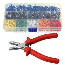 801 Crimp Tool Kit Ferrule Crimper Plier +800 Electrical Wire Connector Terminal