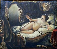 "Oil Painting On Canvas  27"" X 31""  Danae is a famous painting by Rembrandt."