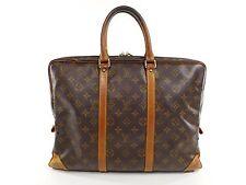 Vintage Louis Vuitton Porte Voyage Documents Briefcase Duffle Travel Bag B172