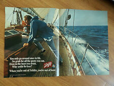 1970 Schlitz Beer Ad Sailing Theme Seaman