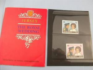 The Royal Wedding Anne & Mark Jersey Stamp presentation pack issue 1973 2 Stamps
