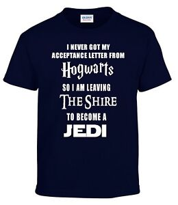 Lord of the Rings JEDI Star wars The Hobbit Harry Potter Funny Movie T-shirt