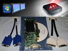 ATI Radeon X300 128MB Low Profile SFF Dual DVI VGA Windows 7 XP PCI-E Video Card