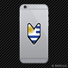 Uruguayan Driver Badge Cell Phone Sticker Mobile Uruguay URY UY