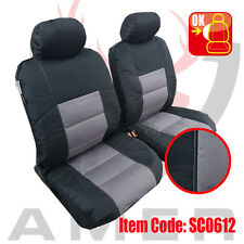 Pair New Canvas Seat cover For Nissan Navara Dual Cab 2007-2015 Free Shipping AU