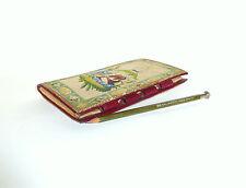 Seltenes Notizbuch um 1850 Originalstift Gobelinstickerei Gobelin B-1932