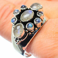 Large Rainbow Moonstone 925 Sterling Silver Ring Size 11 Ana Co Jewelry R27081F