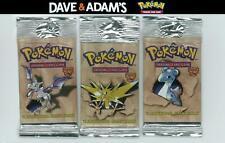 WOTC Pokemon Fossil 3 Booster Pack LONGPACK ART SET (Zapdos, Lapras, Aerodactyl)