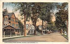C14/ East Orange New Jersey NJ Postcard 1916 Munn Ave from Central Ave Homes