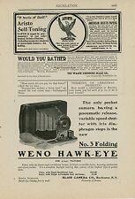1900 Blair Camera Co. Ad No. 3 Folding Weno Hawk-eye Early Photography Photo