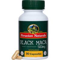 Organic Black Maca 500mg - 90 capsules | Peruvian Naturals