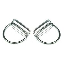 "2x Dive Rite Stainless Steel 2"" D-Rings Welded Bend 45° (Weight Belt SS S/S 2in)"