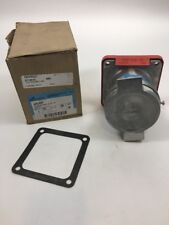 Crouse Hinds ARC64P S1 480 VAC 3 PHASE rainproof receptacle 60 AMP
