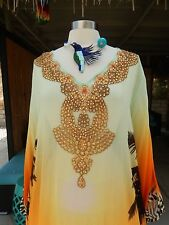 THE EXQUISITE SOFT SURROUNDINGS SOLD OUT SILK CRYSTAL BEADED CAFTAN SZ 3X