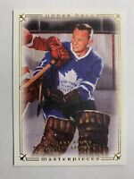 2008-09 Upper Deck Masterpeices #51 Johnny Bower Toronto Maple Leafs Canvas