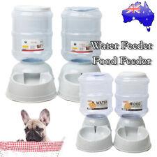 3.8/11L Automatic Pet Dog Cat Water Bowl Food Feeder Bottle Dispenser Plastic