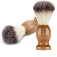 Men Shaving Bear Brush Badger Hair Shave Wood Handle Razor Barber Tool
