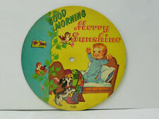 Unknown Artist 78 (picture disc) Good Morning Merry Sunshine   Toy Toon VG-