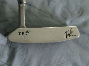 Vintage TaylorMade TPA III putter    LH   steel   approx 34 in
