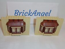NEW LEGO Simpsons House 71006 Front Bay Windows Tan Reddish Brown Clear Glass