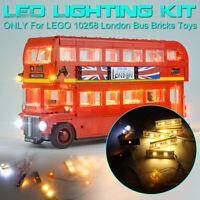 ONLY LED Light Lighting Kit For LEGO 10258 London Bus Building Block Bricks Toys