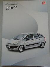 Citroen Xsara Picasso brochure Apr 2001