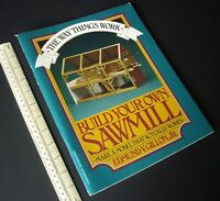 1981 Vintage Build Your Own Sawmill Working Paper Model. Perigee Books NY USA.