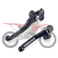 Black CNC Pivot Brake Clutch Levers For HONDA CR 125R CR 250R 2004-2007 CR250R
