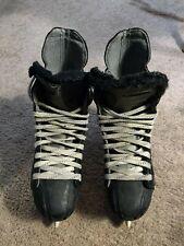 Nike Ignite 7 Junior Ice Hockey Skates Size 7 Tuik Blades Black & Silver