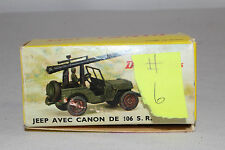 1960's French Dinky #829 Jeep with Mounted Cannon, Nice with Original Box, Lot 6