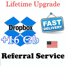 Dropbox 18GB Lifetime Upgrade Permanent Space Friends Referral Service