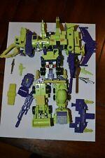 Vintage G1 Transformers Constructicons Devastator Combiner Set Loose Decepticons
