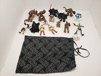 Star Wars Figures Lot Of 15 Figures. CHEWBACCA, LUKE SKYWALKER, DARTH VADER.