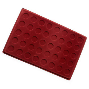 RED COIN FOR 50 PENCE TRAY P50p COIN - 40 COMPARTMENTS 50p