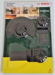 Bosch 3 Piece Starlock Universal Multi Cutter Blade Set
