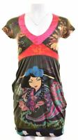DESIGUAL Womens Pouf Dress Size 10 Small Multicoloured Cotton  EC04