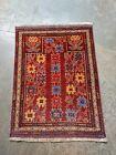 112 x 82 cm Vintage Afghan  Baloch Prayer Rug Muslim prayer mat low pile