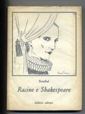 Stendhal # RACINE E SHAKESPEARE # Sellerio 1980