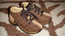 NEW MINIBEL 21 BROWN LEATHER BOYS SHOES US 5