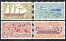 Denmark 1970 Ships/Boats/Sailing/Vikings/Oil Tanker/Nautical/Transport 4v n38618
