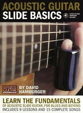 Acoustic Guitar Slide Basics Play Blues Folk Country TAB Music Book & CD