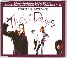 BON JOVI These Days 3 TRACK LIVE UK CD EP