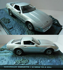 BNIB 007 JAMES BOND DIECAST SILVER CHEVROLET CORVETTE 1:43 1/43 IN DISPLAY CASE
