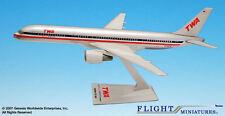 TWA Trans World Airlines Boeing 757-200 1:200 FlugzeugModell B757 NEU American