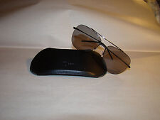 pre-owned authentic DIOR HOMME classic AVIATOR style SUNGLASSES w/leather case