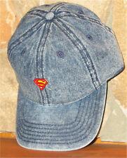 DC COMICS METAL PIN DAD HAT SUPERMAN Ball Cap Adjustable Slouch Hat Golf Blue