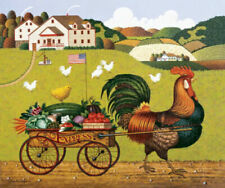 """Charles Wysocki Rooster Express Print Image Size: 12"""" x 9 1/2"""""""