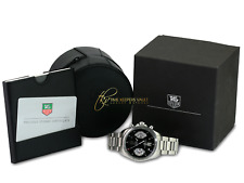 Tag Heuer Men's Carrera Automatic CAV511A Steel Black Dial 41mm-Mint Condition