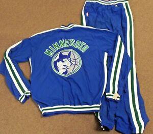 1995/96 MINNESOTA TIMBERWOLVES Game Worn Used Full Warm-Up Suit - SEAN ROOKS
